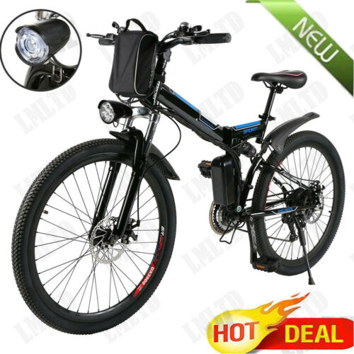 Elektrofahrrad 26 Zoll E-Bike Mountainbike 21-Gäng Shimano Pedelec Faltbar Ebike