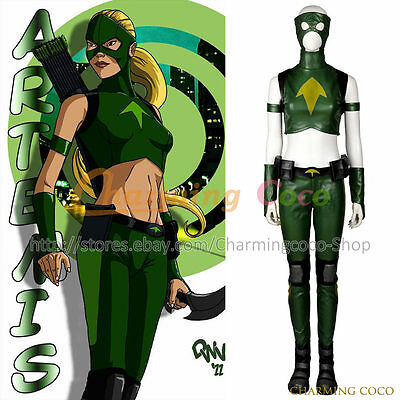 Young Justice Artemis Tigress Artemis Crock Cosplay Costume Women Uniform Outfit (Artemis Costumes)