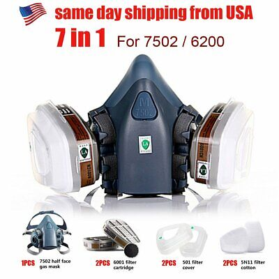 Respirator Half Face Gas Mask Wdual Filter Emergency Survival Safety Protection