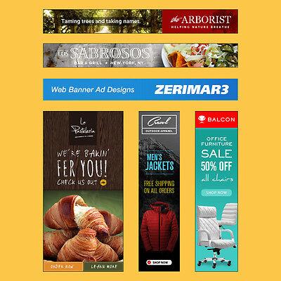 Pro Web Banner Design and Advertising. Ebay Store / Etsy / Social Media