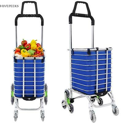 Urban Stair Climbing Cart 68 Wheels Folding Grocery Laundry Handcart 01