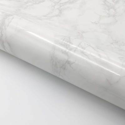 Marble Contact Paper Self adhesive - Beige gray Glossy Faux Marble Paper ](Faux Marble Contact Paper)