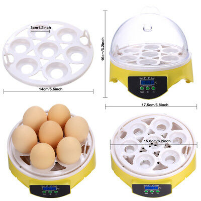 Mini Digital Hatching 7 Eggs Incubator Chicken Duck Incubator Egg Hatcher