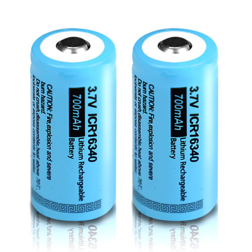 16 X ICR16340 Rechargeable CR123A 700mAh 3.7V Li-ion Battery Button Top - $34.99