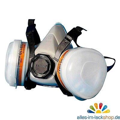 Lackiermaske mit Kohlefilter Vorfilter Staubschutzmaske Atemschutzmaske Maske M