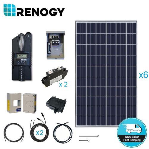 Renogy 1500 1600 Watt Solar Panel Cabin Kit Home Off Grid System Mppt Controller