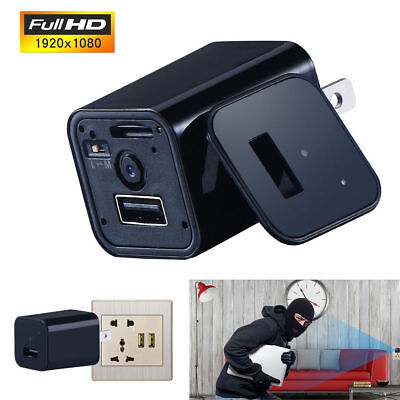 32G HD 1080P Spy Camera USB Wall Charger Mini Motion Detection Adapter Nanny Cam