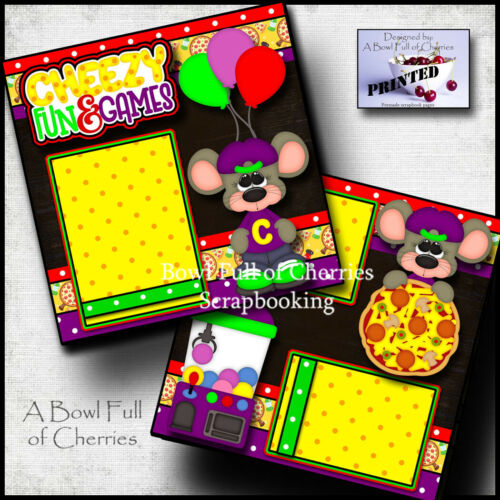 Cheezy Fun & Games 2 premade scrapbook pages printed paper piecing Cherry 0136
