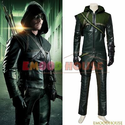 Green Arrow Season 1 Oliver Cosplay Props Costume Hallowen Party Unisex Clothing](Hallowen Clothes)