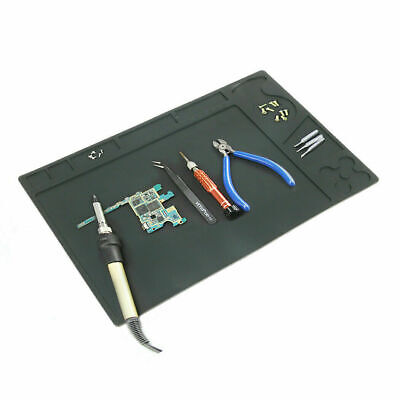 Black Heat Insulation Silicone Repair Mat with Scale Ruler and Screw Position