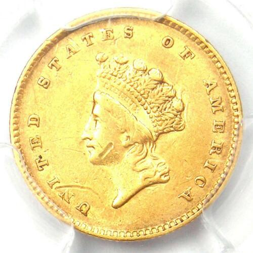 1854 Type 2 Indian Gold Dollar (G$1 Coin) - PCGS XF Details (EF) - Rare Type Two