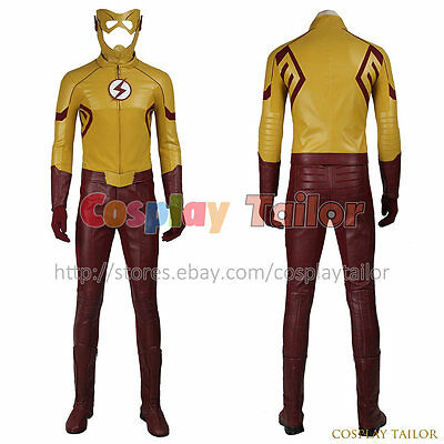 The Flash Season 3 Kid Flash Superhero Cosplay Costume Uniform Fancy Dress Cool - Cheap Cool Costumes