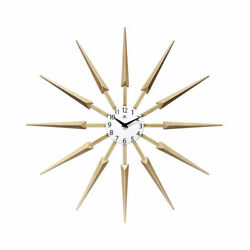 Infinity Instruments Celeste Mid Century Modern 24 Inch Wall Clock, Tan (Used)