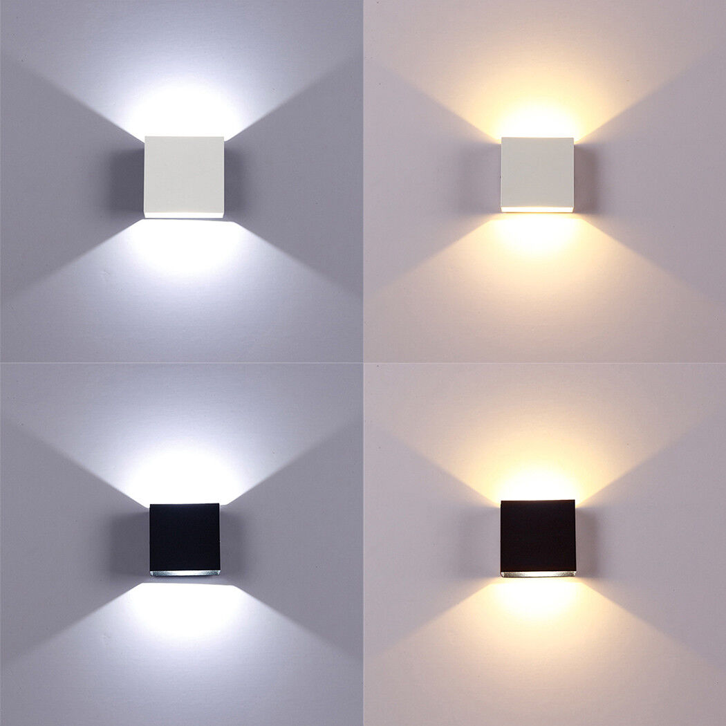 Modern LED Wall Light Up Down Cube Indoor Outdoor Sconce Lighting Lamp