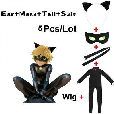 Lady bug Black Cat Noir Cosplay Costume Kids Jumpsuits Set Clothes Mask Ladybug - Lady Bug Adult Costume