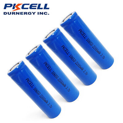 4 x 18650 2200mAh 3.7V Rechargeable Li-ion Vape Battery Unprotected PKCELL