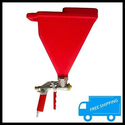 Texture Hopper Gun Air Paint Sprayer Gravity Fed 3 Spray Tip Wall Ceiling Stucco