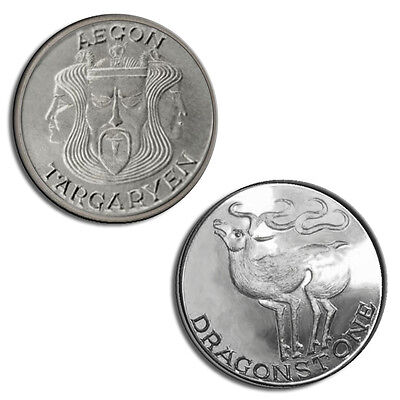 Aegon I Targaryen  Game Of Thrones Coin   999 Pure Silver Stag  1 10 Troy Ounce