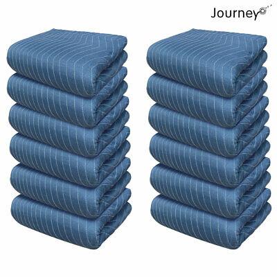 12 Pcs Journeyo Moving Blanket Shipping Furniture Pads 80x72 65lbdz