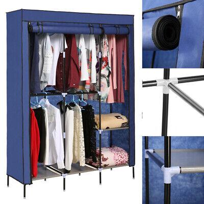 Wardrobe Portable Closet Wardrobe Storage Blue For Family Clothes