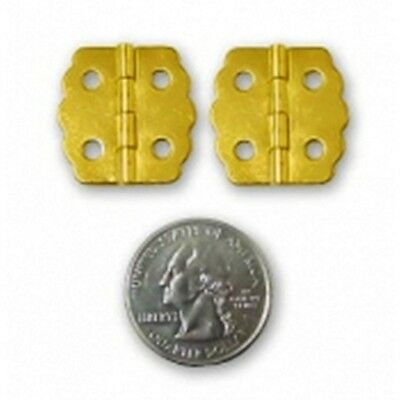 """H-1013BP HUMIDOR OR JEWELRY BOX HINGES-PAIR (2) - BRASS PLATED - 7/8"""" X 7/8"""""""