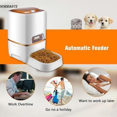 6L/4L/1.6L Automatic Pet Feeder Food Dispenser for Cat Dog Timer Programmable ()