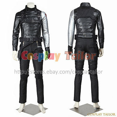 Captain America 2 The Winter Soldier Costume For Bucky Barnes Cosplay Halloween