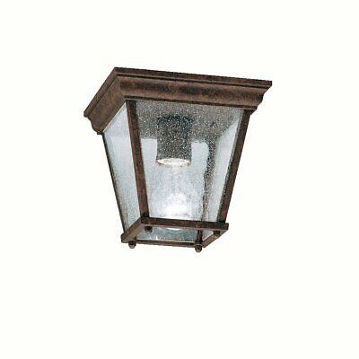 Kichler Outdoor Ceiling Light - Kichler 9859TZ Outdoor Ceiling 1-Light, Tannery Bronze