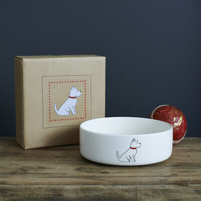 Sweet William Dog Bowls | WESTIE Ceramic Food / Water Bowl 28 fl oz | FREE P&P