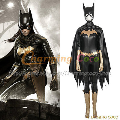 Amazing Womens Halloween Costumes (Batman Batgirl Barbara Gordon Cosplay Costume Halloween Women Uniform Amazing)