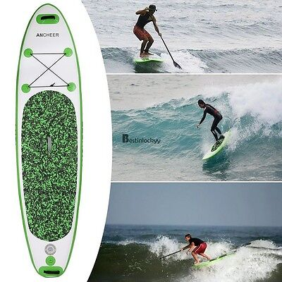 10Ft Inflatable Stand Up Paddle Board Inflatable SUP w/ Pump,Paddle Green BSTY