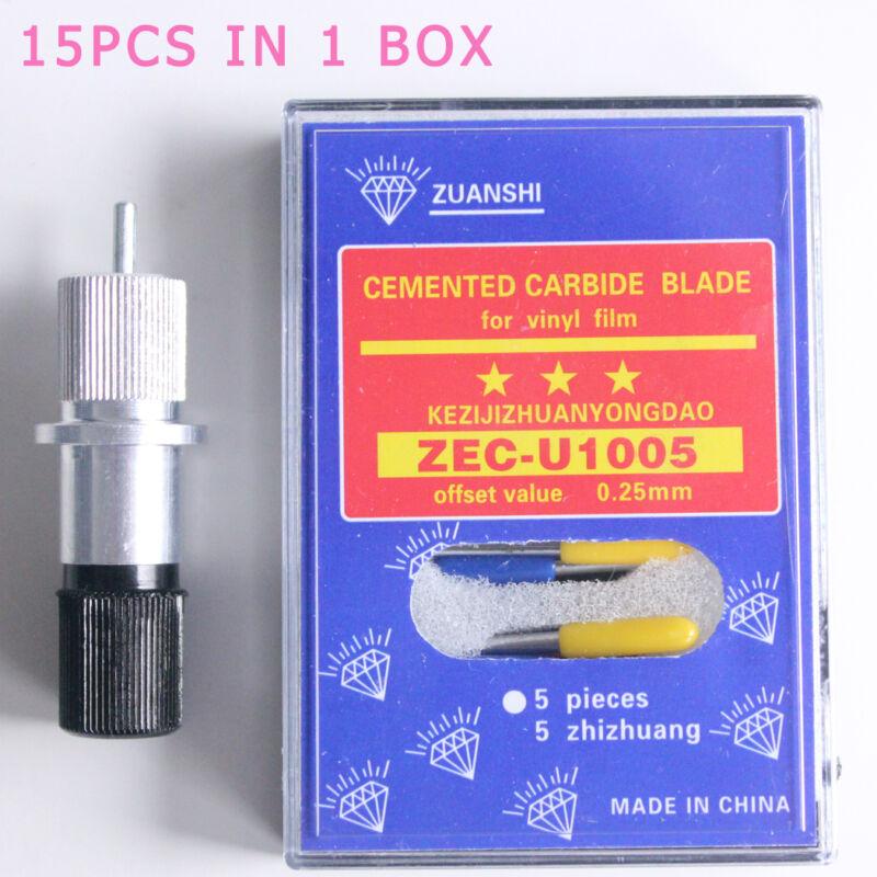 15pc 30°/45°/60°Knife + holder Fits Roland Cutting Plotter Vinyl Cutter Blade