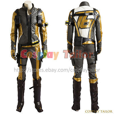 Overwatch Cosplay Soldier 76 Costume Golden Cosplay Costume Golden Outfit Cool