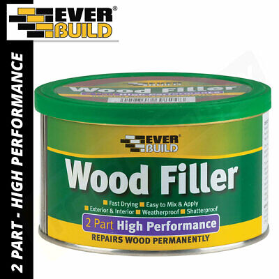 Everbuild 2 Part High Performance Wood Filler Paintable 500g External 6 colours