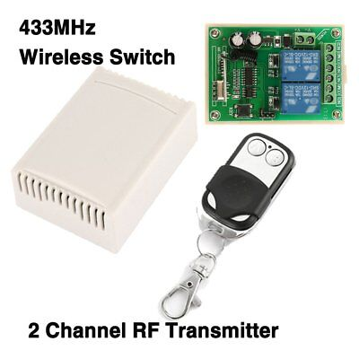 12V 2CH 200M Wireless Remote Control Relay Switch Transmitter & Receiver LOT GB