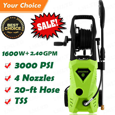 3000PSI 2.4GPM Electric Pressure Washer High Power Auto Jet Cleaner Machine