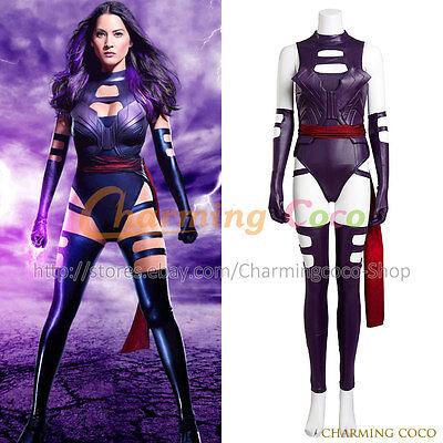 X Men Psylocke Elizabeth Braddock Cosplay Costume Halloween Uniform Women Outfit