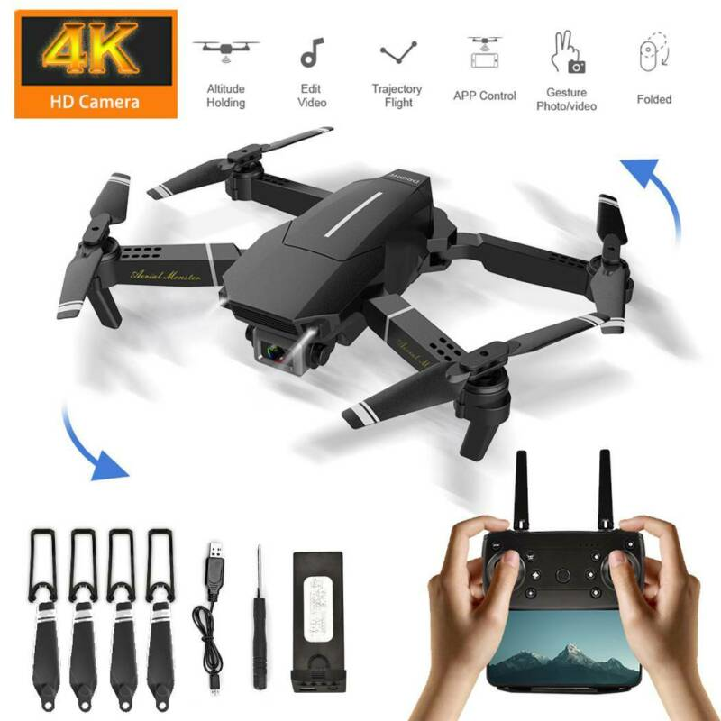 Drohne 4K Drone Selfie WIFI FPV HD Kamera RC Quadcopter Spielzeug Faltbare DE