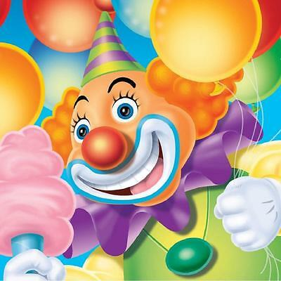Big Top Birthday Circus Clown Elephant Kids Party Paper Beverage