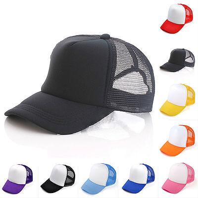 Herren Damen Trucker Mesh Cap Basecap Baseball Caps Mütze Kappe Hut Klassische