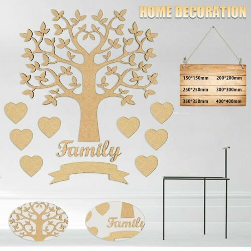 Home Decoration - Wooden Family Tree Wall Sticker Ornament Room Decoration Home Decor Tool