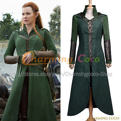 The Hobbit: The Desolation of Smaug Elf Tauriel Cosplay Costume Halloween Outfit](The Hobbit Elf Costume)