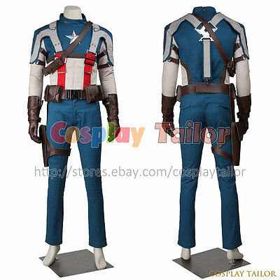 The First Halloween Costumes (Captain America The First Avenger Steve Rogers Cosplay Costume Uniform)