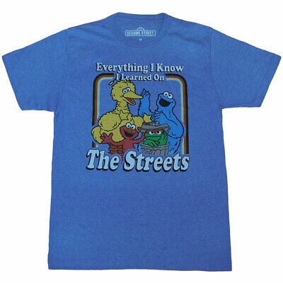 Sesame Street Shirts (Sesame Street Everything I Know Adult)