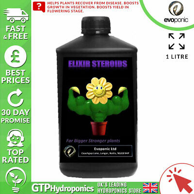 Evoponic Elixir Steroids - 1 Litre - 1L - Growth Enhancer Elixer Heavy Buds