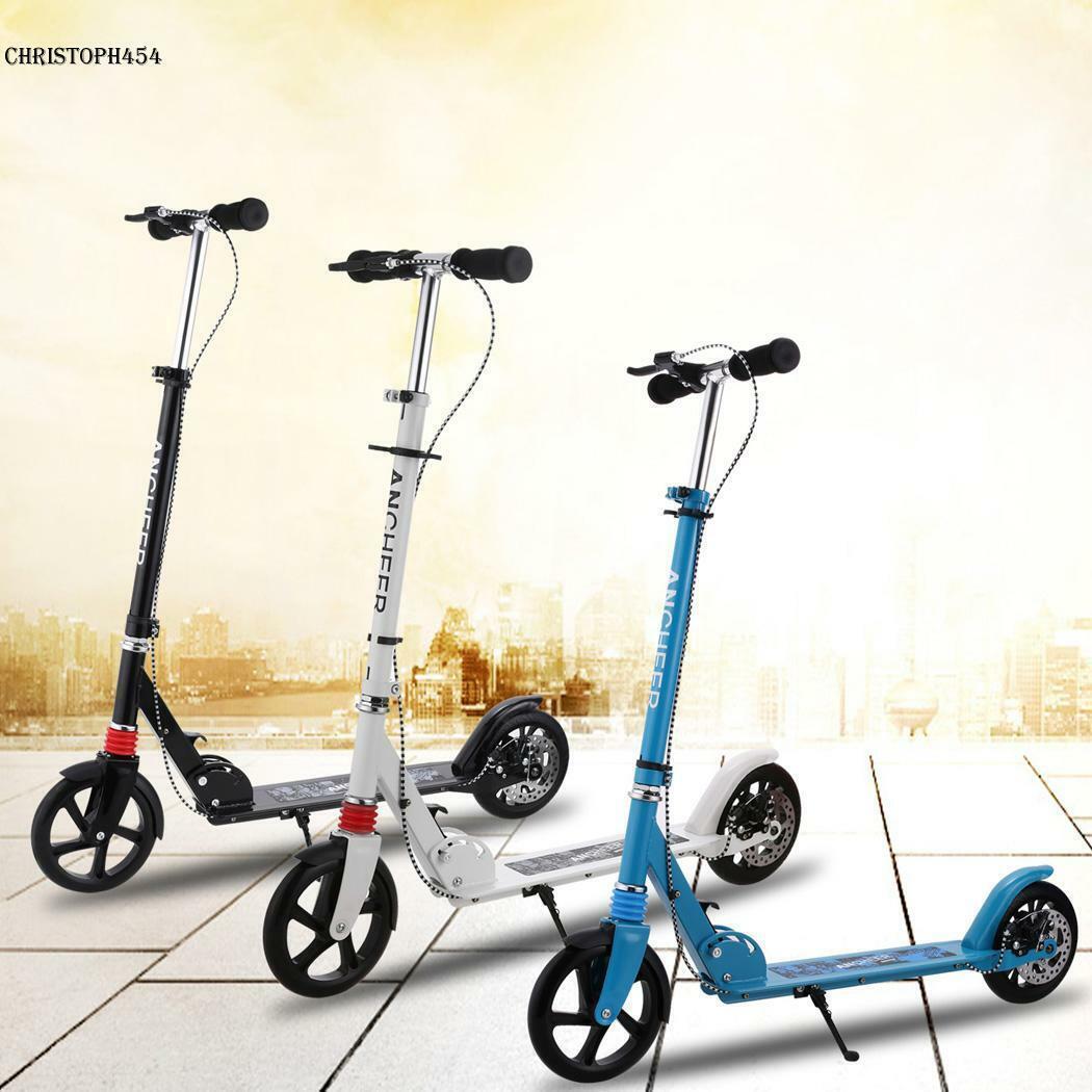 Scooter Erwachsene Cityroller Tretroller Klappbar Kinderroller höhenverstellba
