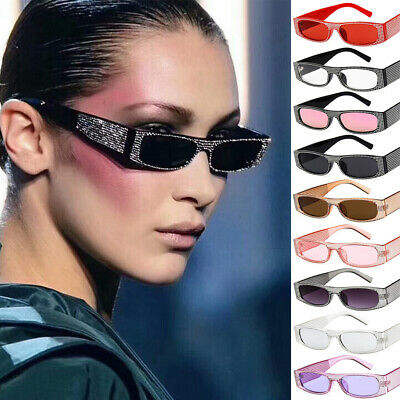 Trendy Small Rectangular Sunglasses With Sequins In Retro Style For (Trendy Sunglasses For Ladies)
