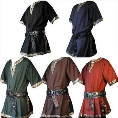 746| Adulte hommes médiéval Chevalier guerrier Costume vert tunique  Viking - Kostüm Medievale Homme