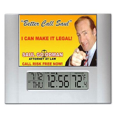 Breaking Bad Better Call Saul Ad Digital Wall Desk Clock with temperature