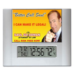 Breaking Bad Better Call Saul Ad Digital Wall Desk Clock with temperature alarm